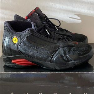 "Air Jordan 14 ""last shots"" sz.9 black/red"